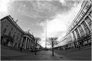 a Fish's view of O'Connell street by TCM73