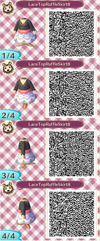 Lace Top Ruffle Skirt Pink2 QR Code by ChibiBeeBee