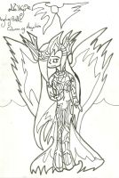 Valkyire War Pic: Uncoloured by xxxBrokenSoulxxx