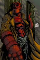 hellboy colored by hanzozuken