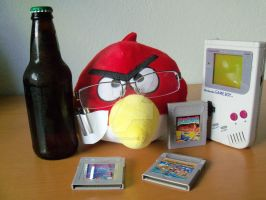 Angry Video Game Bird plush by Selecthumor