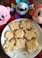 Kirby Cookies - Kirby, Meta Knight, Waddle Dee by DarkFatalKnight