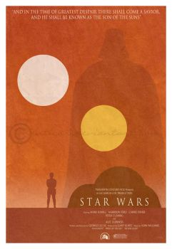 Star Wars minimalist poster by manticor