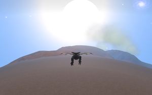 my classic toothless fly in the sky in spore by moonofheaven1