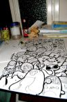Next wall painting sketch by Bicss