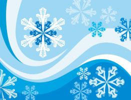 Snowflakes-Winter-Background by vectorbackgrounds