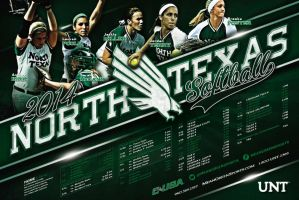 unt softball by Satansgoalie
