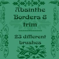 Absinthe Borders and trim by rL-Brushes