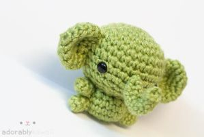 Green Elephant 2 by tinyowlknits