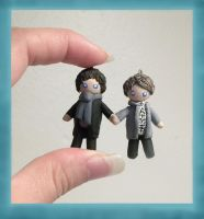 Sherlock and Watson Charm by Sugar-Bolt