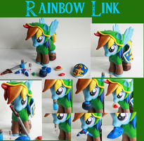 Rainbow Link: MLP and LoZ crossover Custom figure by alltheApples