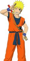 Naruto Goku Costume by codzocker00