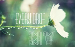 Every Drop Wallpaper by solefield