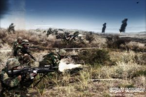 Argentine Marine Corps fighting by Ghostestudios