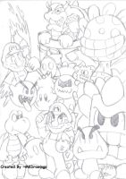 Mario and enemies by MKDrawings