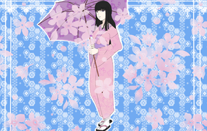 The Proud Woman's Flower Yukata by Nagishanya