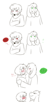 Affectionate headbutts by Channydraws