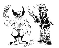 Captain Ninja vs Wolverine by CaptainNinja