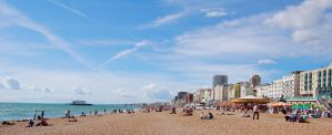 Brighton Beach Wispy Sky by Mk-Photo