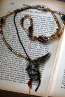 Steampunk princess necklace by Gothic-Enchantress