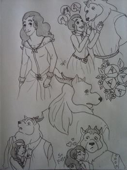 'Beauty and The Beast' by Megan Kearney by VPadial
