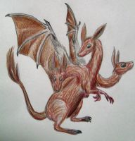 Wallaby Chimera (drawing request) by SpiderMilkshake