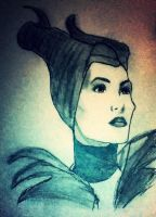 Maleficant drawing #1 by jt0002