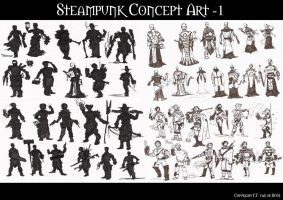 Steampunk Concept Part 1 by DarkRaven1988