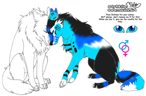 Sky Breedable Wolf (open) by fluffy40