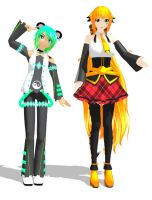 [MMD] Trei and Po by khftw