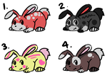 Bunny Adopts! (1) - NUMBER 2 AND 3 AVAILABLE!! by AzureSky-Adoptables