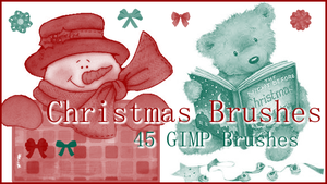 GIMP Christmas Brushes by Illyera