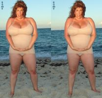 Carol Foxx beach 3d cropped by 3dpinup