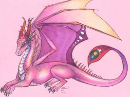 Pink dragoness by who-stole-MY-name
