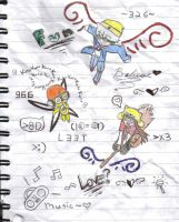 Notebook art-Fly with me by Vocaloid-J4M