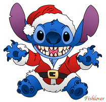 Santa Stitch by Fishlover