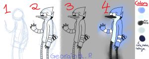 Como dibujar a Mordecai / How to draw Mordecai by ScourgeTiny