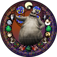 Oogie Boogie stained glass by jeorje90