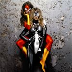 Spider-Woman x2 by jmperkins
