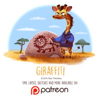 Daily Paint 1449. Giraffiti by Cryptid-Creations