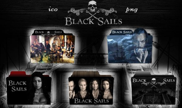 Black Sails folder icon by OdessaAna