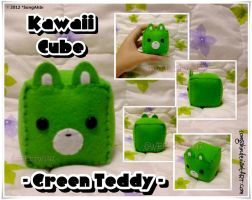 Cube Green Teddy by SongAhIn