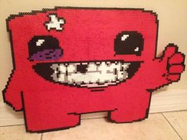 SUPERRR MEAT BOY! Perler by Birdseednerd