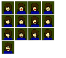 Logan Skit Faces by starfoxluver