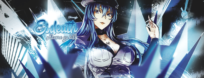 portada Esdeath akame ga kill by Erickcastro