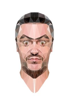 Low Poly Mike Patton portrait by 3RDigraphics