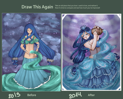 Draw this again meme-Aquarius by Lilenee