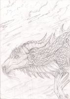 Within the clouds-pencil by Rashirou