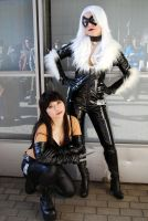 Black Cat and X-23 by CelestialShadow19