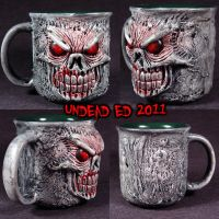 Pure Evil Deluxe Mug ooak by Undead-Art